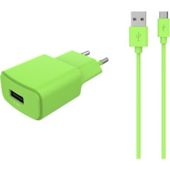 Essentielb USB 2,4A + Cable Micro-USB vert