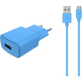 Essentielb USB 2,4A + Cable Micro-USB bleu