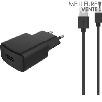 Essentielb USB 2,4A + Cable Micro-USB noir