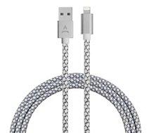 Câble iPhone Adeqwat 2M Gris/Blanc