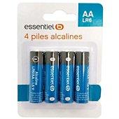 Pile Essentielb 4 AA Alcaline LR06