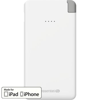 Essentielb 5000 mAh Weekend Lightning -Blanc