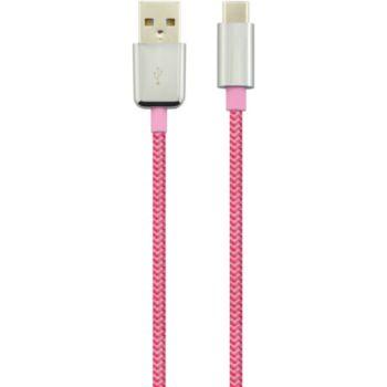 Essentielb USB C / USB A 1M Rose Textile