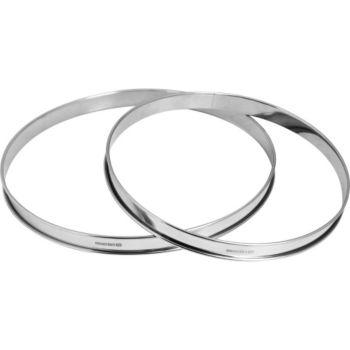 Essentielb 2 cercles à tarte inox diam 24 et 28 cm