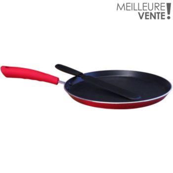 Essentielb rouge diam 26 cm et spatule à crêpes