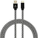 Câble micro USB Adeqwat 3M Noir/Blanc