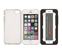 Coque + Protège écran Essentielb iPhone 5S/SE Coque +Verre+Applicateur