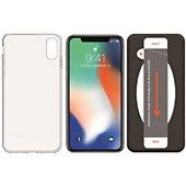 Pack Essentielb iPhone X/Xs Coque + Verre trempé