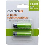 Pile rechargeable Essentielb Rechargeables x2 AAA