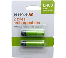 Pile rechargeable Essentielb x2 AAA