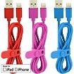 Adaptateur Essentielb Pack de 3 cables 1m bleu rouge rose