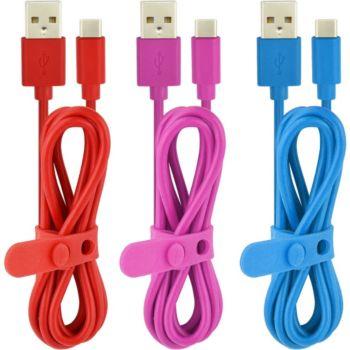 Essentielb PVC USB-C: 3 x 1m triocolor