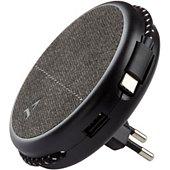 Chargeur secteur Adeqwat Magnétique noir-cable USB C intégré