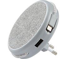 Chargeur secteur Adeqwat  Magnétique Gris-cable Lightning intégré