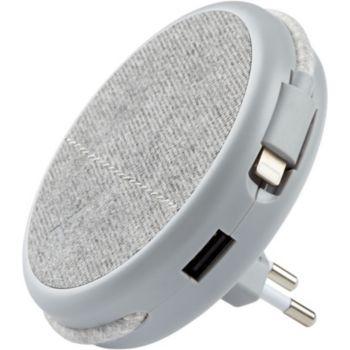 Adeqwat Magnétique Gris-cable Lightning intégré