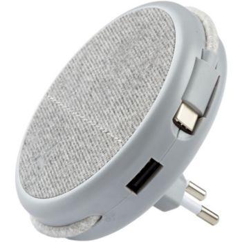 Adeqwat Magnétique Gris-cable USBC intégré
