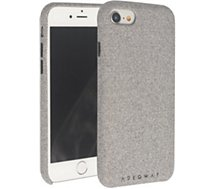 Coque Adeqwat iPhone 7/8 textile gris clair