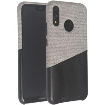 Adeqwat Huawei P20 Lite Textile-Cuir gris clair