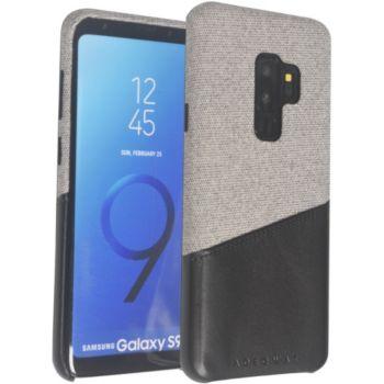Adeqwat Samsung S9+ Textile-Cuir gris clair