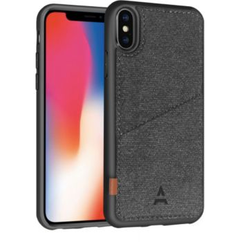 Adeqwat iPhone X/Xs Porte-carte Aimantée noir