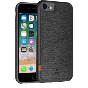 Adeqwat iPhone 7/8 Porte-carte Aimantée noir