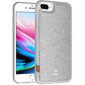 Coque Adeqwat iPhone 7/8Plus Porte-carte Aimantée gris