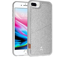 Coque Adeqwat  iPhone 7/8Plus Porte-carte Aimantée gris