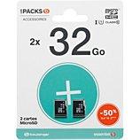 Carte Micro SD Essentielb  Pack microSDHC 32+32Go LOISIR