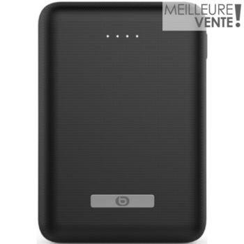 batterie externe essentielb 10000 mah  - mini noir