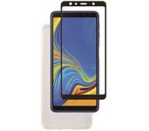 Pack Essentielb Samsung A7 2018 coque souple+verre3D+app