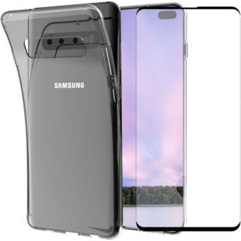 Essentielb Samsung S10+ Coque + Verre trempé