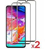 Protège écran Essentielb Samsung A70 Verre trempé intégral x2