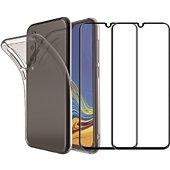 Pack Essentielb Samsung A70 Coque + Verre trempé x2