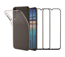 Pack Essentielb  Samsung A40 Coque + Verre trempé x2