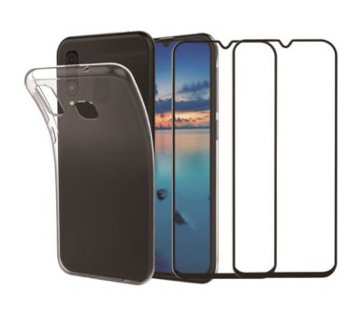 Pack Essentielb Samsung A50 Coque + Verre trempé x2