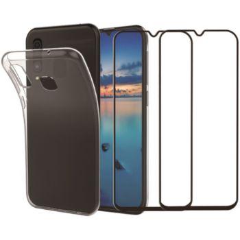 Essentielb Samsung A50 Coque + Verre trempé x2