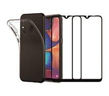 Pack Essentielb  Samsung A20e Coque + Verre trempé x2