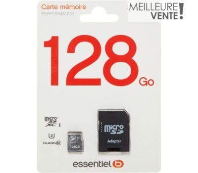 Carte Micro SD Essentielb Micro SD 128Go Performance