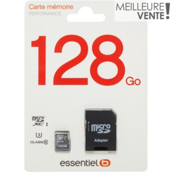 Essentielb Micro SD 128Go Performance