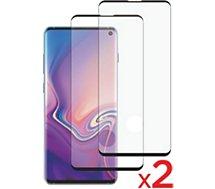 Protège écran Essentielb  Samsung S10 Verre trempé intégral x2