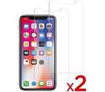 Protège écran Essentielb  iPhone X/Xs Verre trempé x2