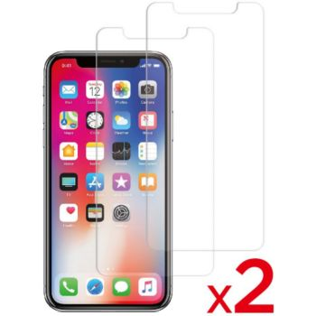 Essentielb iPhone X/Xs Verre trempé x2