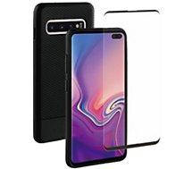Pack Adeqwat  Samsung S10+ Coque noir + Verre trempé