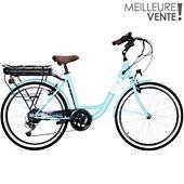Vélo à assistance électrique Essentielb URBAN 400 vert d'eau