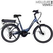 """Vélo à assistance électrique Essentielb URBAN 600 24"""" bleu nuit"""