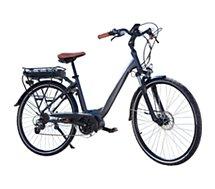 """Vélo à assistance électrique Essentielb  URBAN 600 28"""" gris noir"""