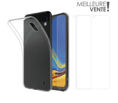 Pack Essentielb Samsung A10 Coque + Verre trempé x2