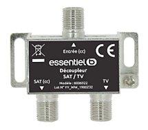 Répartiteur Essentielb  TV/Sat 1 entrée & 2 sorties intérieur