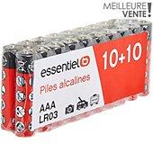 Pile Essentielb 20 x LR03 / AAA