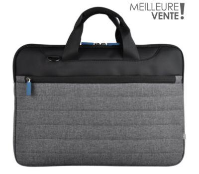 Sacoche Essentielb 13-14'' Classic gris/bleu